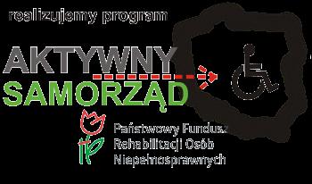 Logotyp Realizujemy program Aktywny Samorząd Państwowego Funduszu Rehabilitacjo Osób Niepełnosprawnych